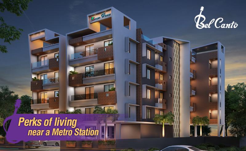 flats near metro station